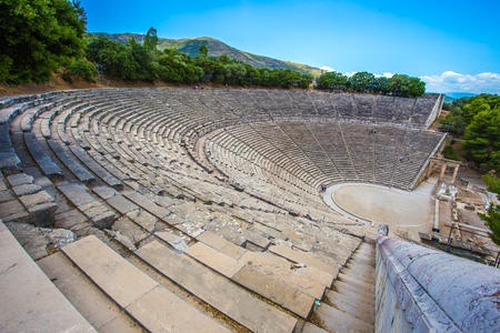 ancient theater in Epidaurus, Argolida, Greece