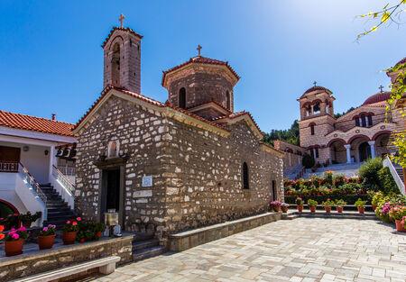 arcadia: monastery of Assumption in Malevi, Arcadia, Greece Stock Photo