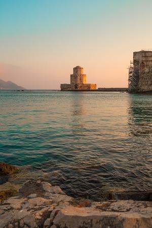 bourtzi: The Bourtzi tower in Methoni , Peloponnese, Greece