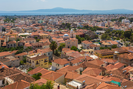 nafplio: Cityview Nafplio, Greece Stock Photo