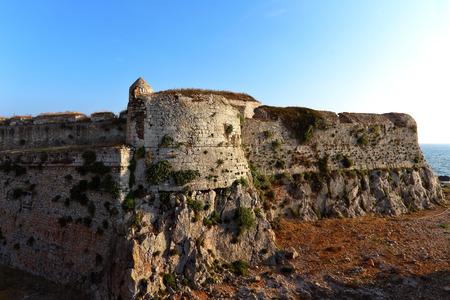 The Methoni Venetian Fortress in the Peloponnese, Messenia, Greece.
