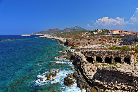 messenia: The Methoni Venetian Fortress in the Peloponnese, Messenia, Greece.