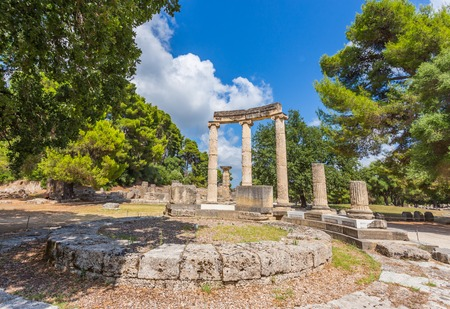 ancient olympic games: ancient ruins of the  Philippeion, Ancient Olympia