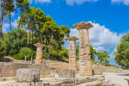 historical sites: ruins in Ancient Olympia, Elis, Greece