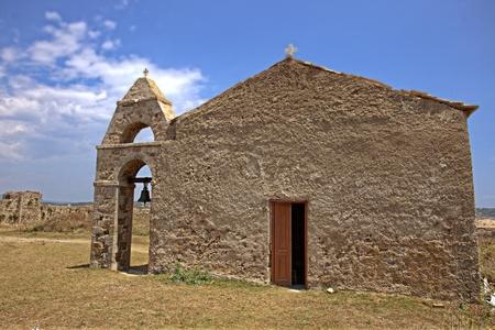 medieval church inside the Methoni, Greece