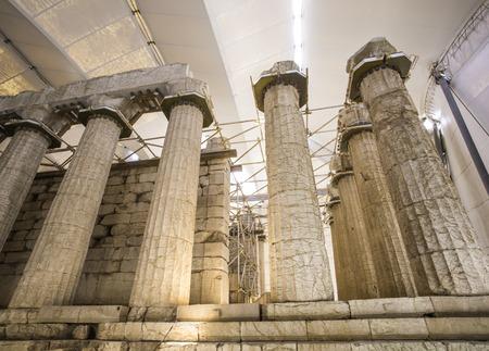 Tempel des Apollo Epicurius Argolis, Griechenland Standard-Bild - 33947441