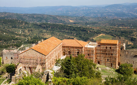 church in medieval city of Mystras, Laconia, Greece