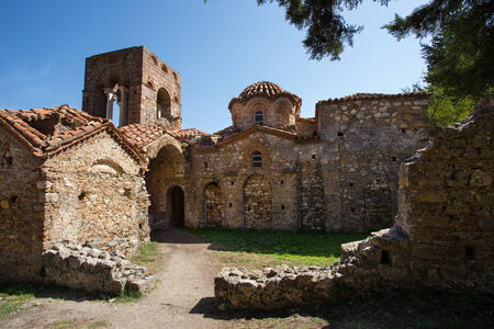 laconia: church in medieval city of Mystras,   Greece