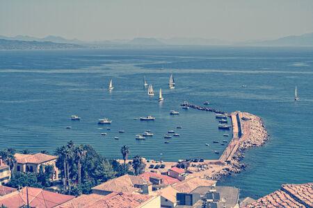messenia: panoramic view on Koroni village, Greece