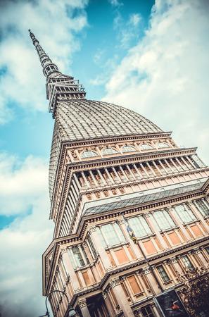 Turm Mole Antonelliana, Wahrzeichen von Turin, Italien Standard-Bild - 34176907
