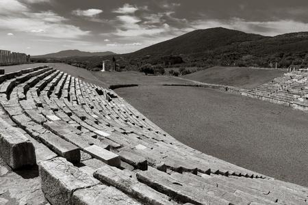 peloponnes: ruins in Ancient Messina, Peloponnes, Greece