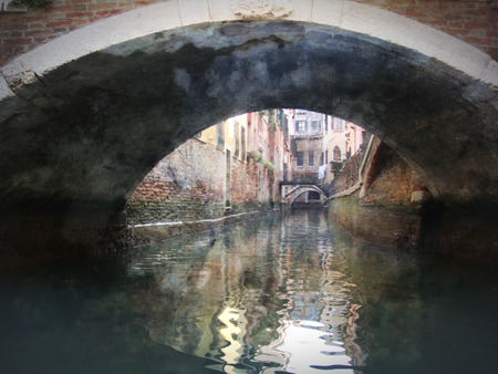Venice, Italy, Grand Canal and historic tenements photo