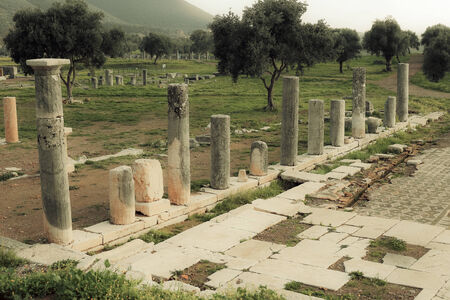 messenia: ancient ruins in Messina, Greece