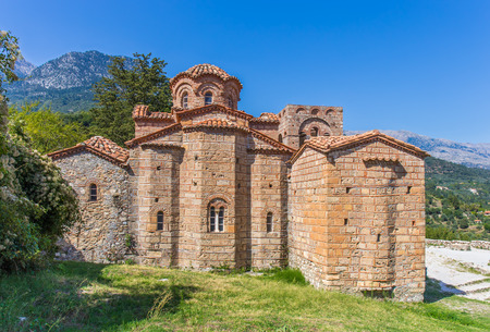 laconia: Byzantine church in medieval city of Mystras, Peloponnes, Greece