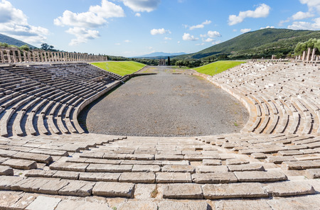 messenia: antique stadium in Ancient Messina, Peloponnese, Greece