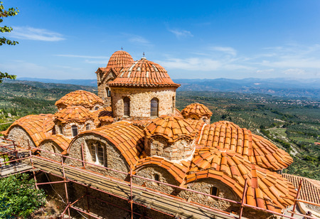 laconia: Byzantine church in medieval city of Mystras