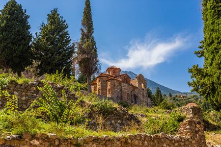 byzantine: Byzantine church in medieval city of Mystras