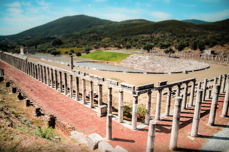 messenia: stadium in the city of Ancient Messina, Greece