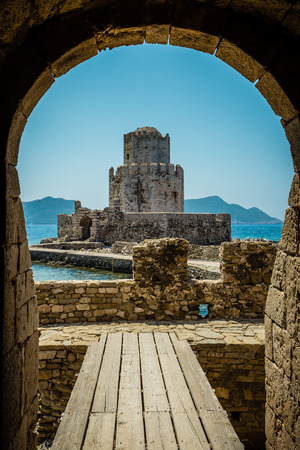 bourtzi: The Bourtzi tower, Methoni, Peloponnese, Greece.