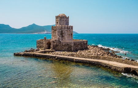 peloponnesus: The Methoni Venetian Fortress in the Peloponnese, Messenia, Greece.
