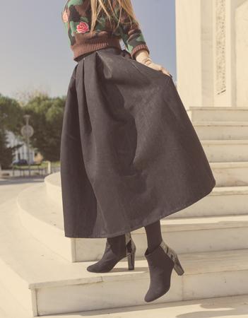 maxi: dark maxi skirt