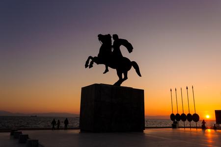 sunset in Thessaloniki Editorial