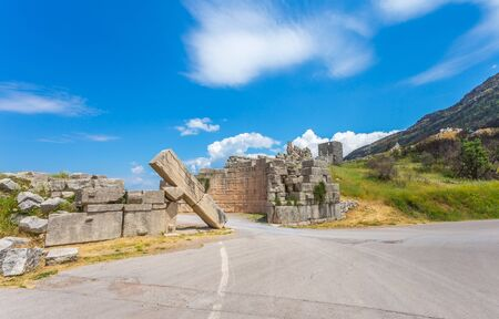 messinia: ruins of Arcadian gete in Ancient Messina