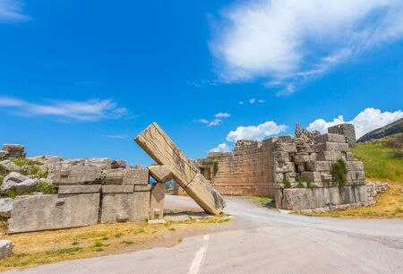 messenia: ruins of Arcadian gete in Ancient Messina