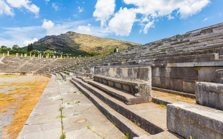 messenia: vip seats on antique stadium in Ancient Messina