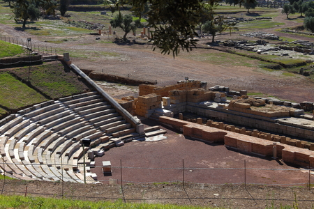 peloponnes: ruins of theater in ancient city of Messina, Peloponnes, Greece