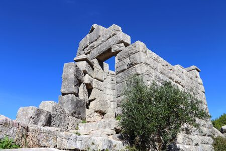peloponnes: ruins in ancient city of Messina, Peloponnes, Greece