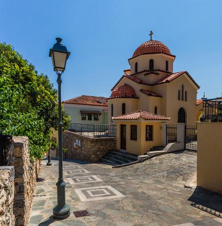 messenia: small church in Kalamata old town, Peloponnes, Messenia, Greece