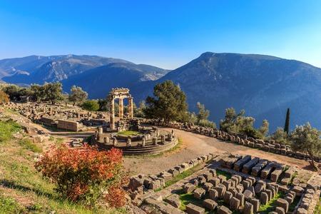 アテナ ・ プロナイア デルファイ, ギリシャの古代寺院を遺跡します。