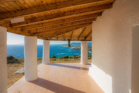messenia: sea view from church terrace, Messenia, Greece