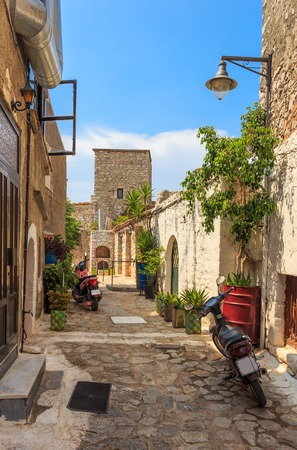 streets of traditional greek town of Areopolis