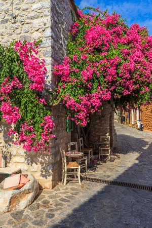 peloponnes: streets of traditional greek town of Areopolis