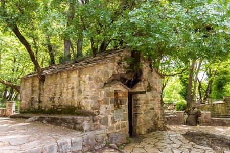 and arcadia: small medieval Byzantine church of Saint Theodora Stock Photo