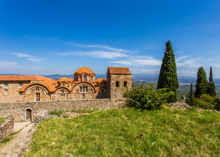 laconia: Byzantine church in medieval city of Mystras, Peloponnes, Laconia, Greece