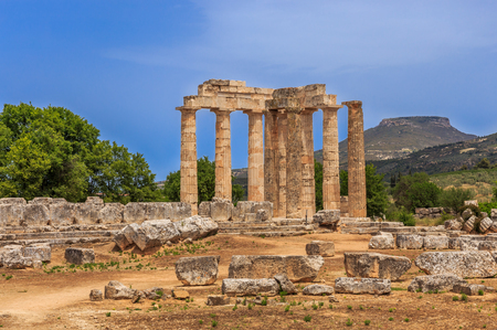 ruins of Zeus temple in  Ancient Nemea, Corinthia Imagens - 59788540