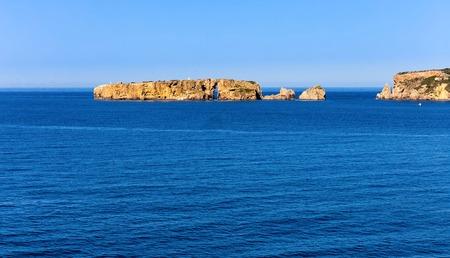 view on Navarino bay form Neokastro, Peloponnese, Greece Stock Photo