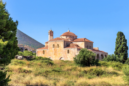 peloponnes: inside the Neokastro fortress - church of Transfiguration of the Lord