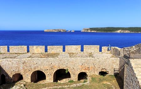 inside the Neokastro fortress on Peloponnese, Greece Stock Photo