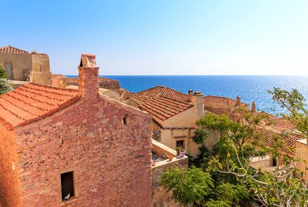 laconia: Monemvasia the medieval town in Peloponnese, Greece