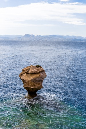 rocky cliffs of Melagavi cape near Loutraki, Corinthia
