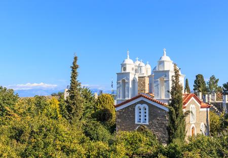 monastery of Agios Ioannis inside Koroni fortress Stock Photo