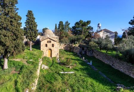 byzantine church on ancient temple ruins near Koroni, Peloponnese