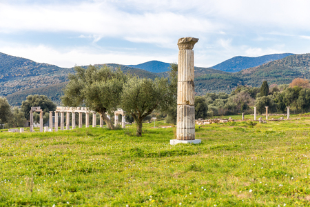 ruins of ancient city of Messena, Peloponnese Stock Photo