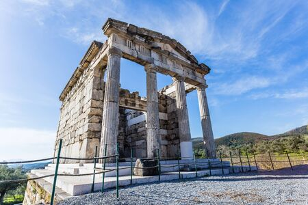 ruins of ancient city of Messina, Peloponnese january 2017 Stock Photo