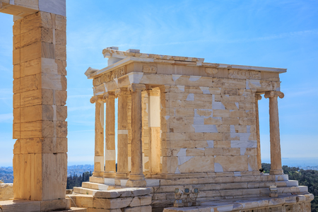 ruins of ancient temple on Acropolis hill