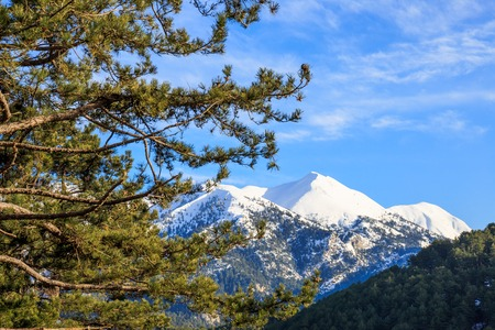 laconia: mount Taygetos covered by snow